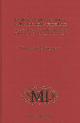 9789041112392: Exclusion from Participation in International Organizations:The Law and Practice Behind Member States' Expulsion and Suspension of Membership (Studies on the Settlement of International Dis)