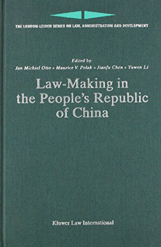 Law-Making in the People's Republic of China (Hardback)