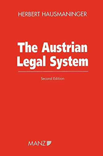 9789041114808: The Austrian Legal System, 2nd Edition