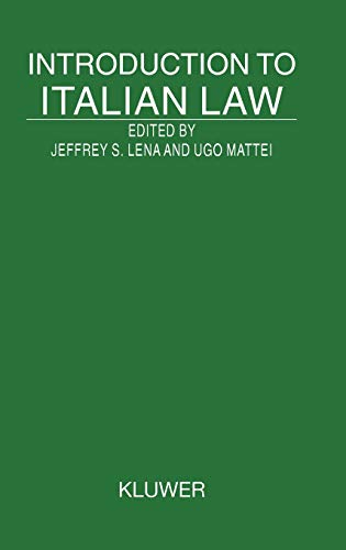 9789041117076: Introduction To Italian Law (Introduction to the Laws of Series)