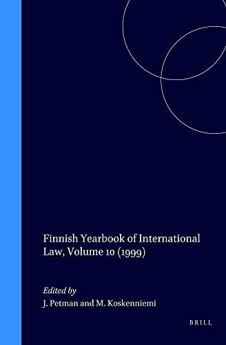 9789041117922: Finnish Yearbook of International Law