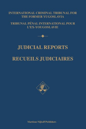 Judicial Reports / Recueils Judiciaires 1996: Volumes I and II (Hardback): International ...