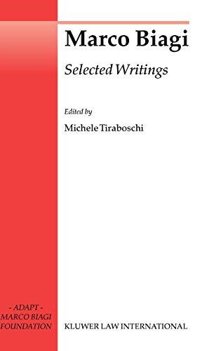 Marco Biagi Selected Writings (Hardback)