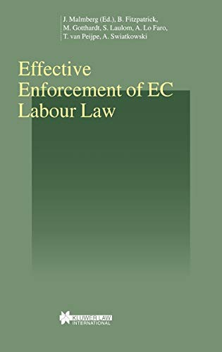 Effective Enforcement of EC Labour Law (Hardback): Barry Fitzpatrick, Michael Gotthardt, Sylavanie ...