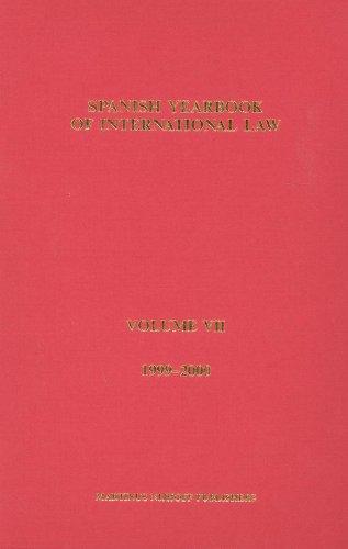 Spanish Yearbook of International Law (1999-2000) (Hardback)