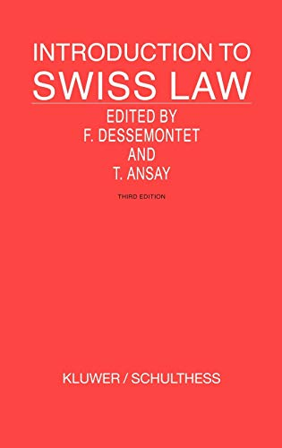 9789041122605: Introduction To Swiss Law, Third Edition (Introduction to the Laws of Series)