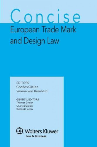 9789041124074: Concise European Trademark and Design Law (Concise Commentary of European IP Law)