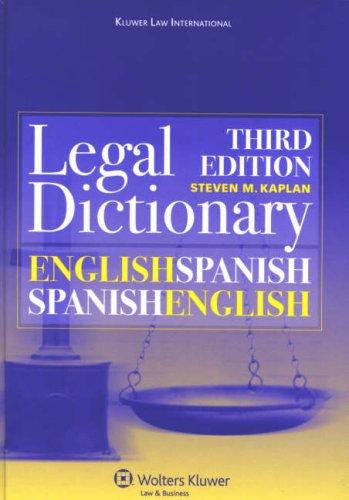 Kluwer Law International English/Spanish Dictionary (English and