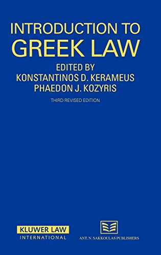9789041125408: Introduction To Greek Law 3rd Edition