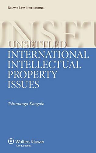 Unsettled International Intellectual Property Issues: Kongolo, Tshimanga