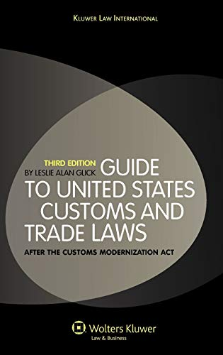 9789041127044: Guide To US Customs and Trade Law 3e
