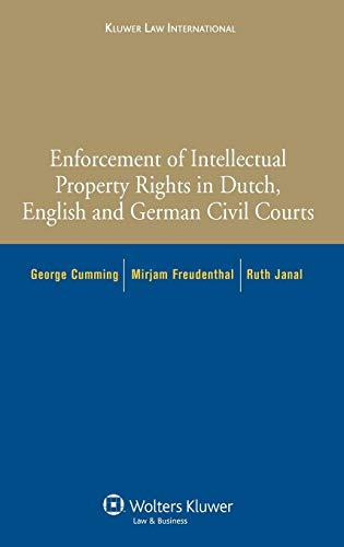 9789041127266: Enforcement of Intellectual Property Rights in Dutch, English and German Civin Procedure