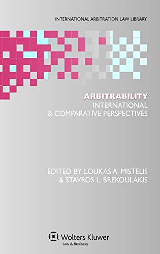 Arbitrability: International Comparative Perspectives
