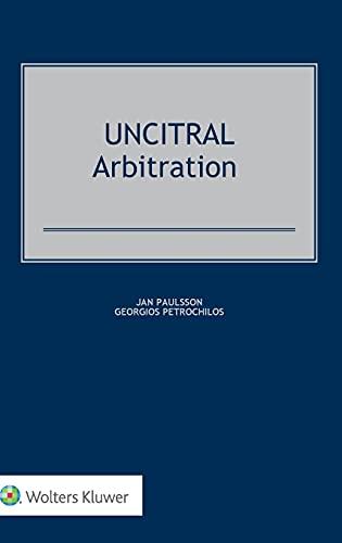 9789041127334: Uncitral Arbitration