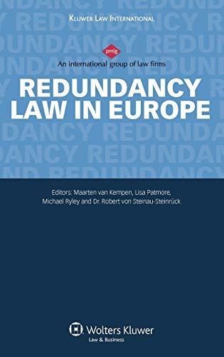 9789041127648: Redundancy: Law in Europe (European Labour Law in Practice)