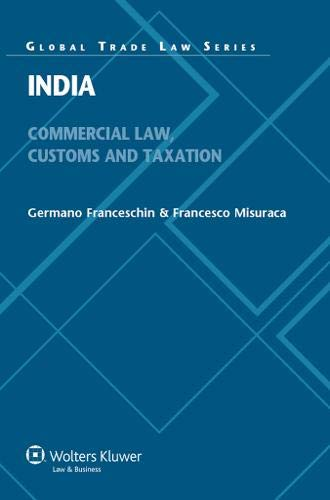 9789041128362: India: Commercial, Customs and Tax Law (Global Trade Law Series)