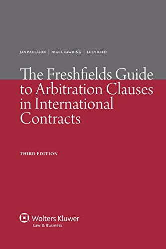 9789041134004: The Freshfields Guide to Arbitration and ADR, Clauses in International 3ed