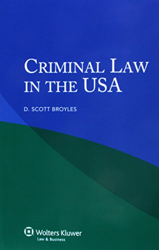 9789041136206: Criminal Law in the U.S.A.