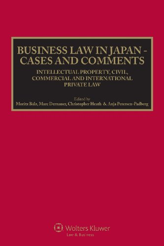9789041138910: Business Law in Japan - Cases and Comments. Intellectual Property, Civil, Commercial and International Private Law
