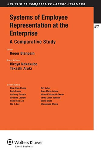 9789041140807: Systems of Employee Representation at the Enterprise: A Comparative Study (Bulletin of Comparative Labour Relations Series)