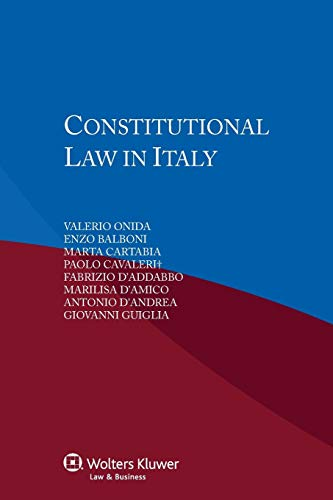 9789041148667: Constitutional Law in Italy