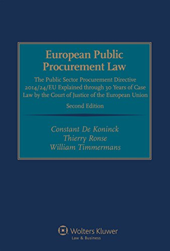 9789041154217: European Public Procurement Law: The Public Sector Procurement Directive 2014/24/EU Explained through 30 Years of Case Law by the Court of Justice of the European Union