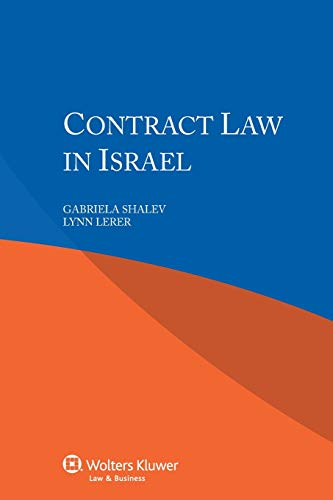 9789041154255: Contract Law in Israel