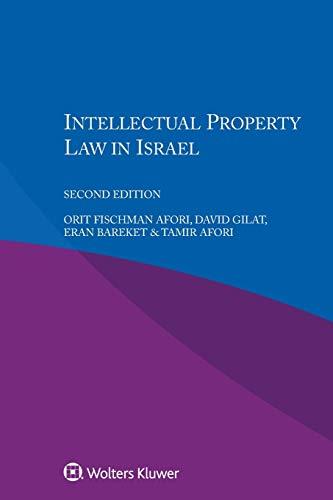 Intellectual Property Law in Israel: Afori, Orit Fischman;