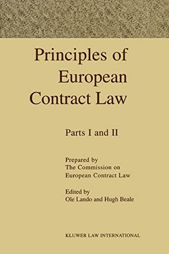 Principles of EUropean Contract 2 Vols: Lando, Ole; Prum,