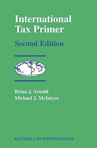 International Tax Primer: Michael J. McIntyre;