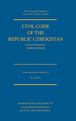 9789041194824: Civil Code of the Republic Uzbekistan, Third Edition (Cis Code Series)