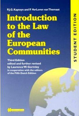 Introduction to the Law of the European: P.J.G. Kapteyn,P.Verloren Van