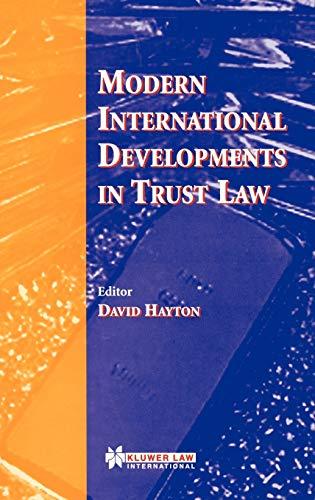9789041197061: Modern International Developments in Trust Law