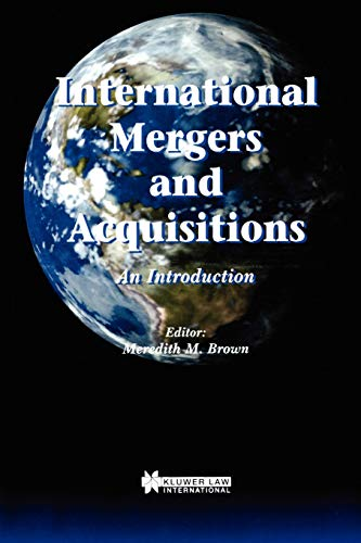 9789041197337: International Mergers and Acquisitions