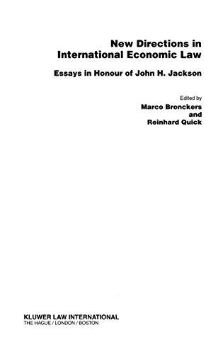 9789041198051: New Directions in International EConomic Law, Essays
