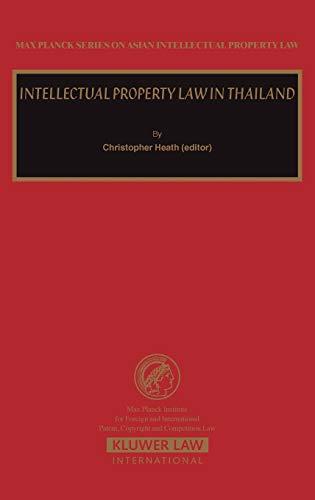 Intellectual Property Law in Taiwan (Max Planck Series on Asian Intellectual Property Set)