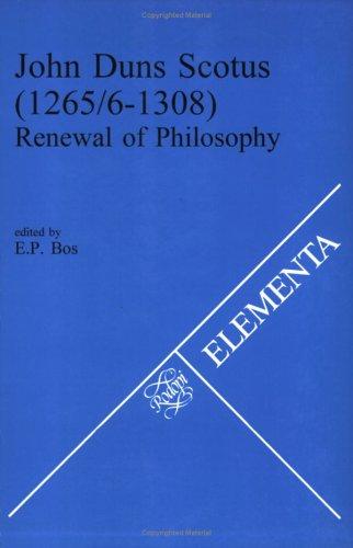 9789042000810: John Duns Scotus (1265/5-1308) (Elementa)