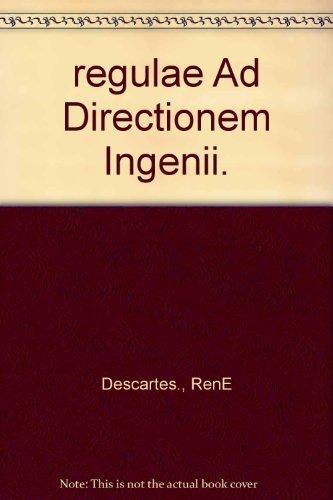 9789042001381: regulae Ad Directionem Ingenii.