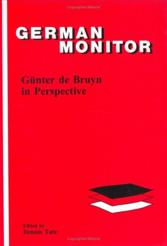9789042005662: Gunter de Bruyn in Perspective (German Monitor)