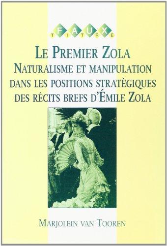9789042006713: Le Premier Zola. (Faux Titre) (French Edition)
