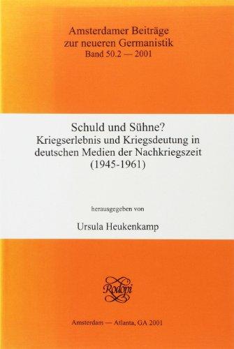 9789042014350: Schuld Und Suhne?: 2 (Amsterdamer Beiträge Zur Neueren Germanistik)