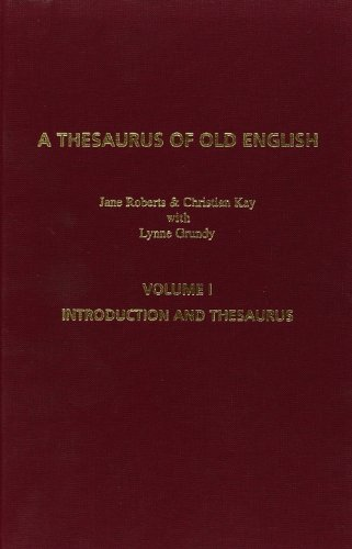 9789042015630: A Thesaurus Of Old English. Second Revised Edition - in two volumes. Volume 1 and 2. (Costerus NS 131-132)