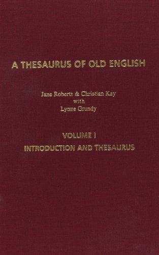 9789042015739: A Thesaurus of Old English, Volume 1: Introduction and Thesaurus. Second Revised Edition: Introduction and Thesaurus v. 1 (Costerus New Series)