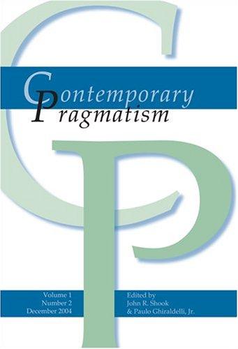9789042018440: Contemporary Pragmatism: v. 1,No. 2