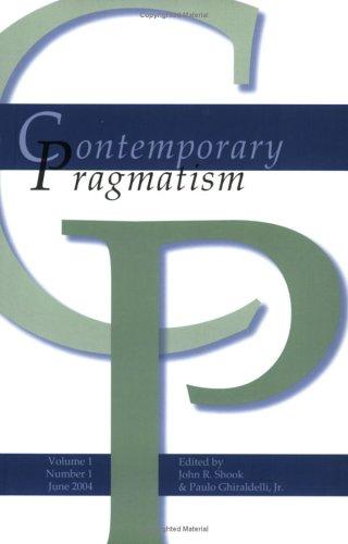 9789042019119: Contemporary Pragmatism (Contemporary Pragmatism 1:1, June 2004)