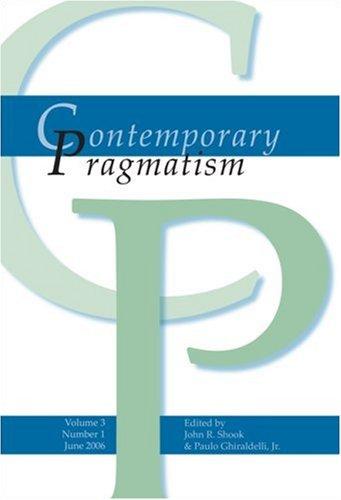 9789042021228: Contemporary Pragmatism 3:1