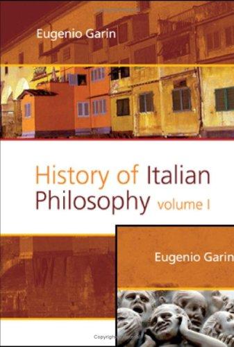 History of Italian Philosophy (Hardback): Eugenio Garin