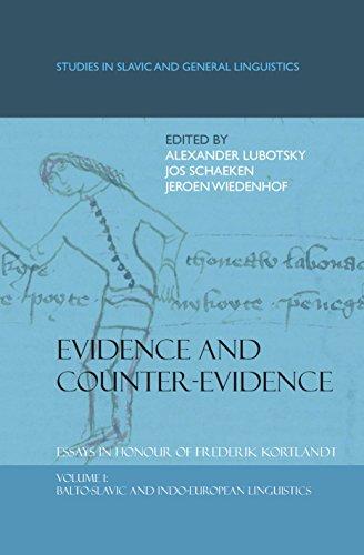 9789042024700: Evidence and Counter-Evidence. Essays in Honour of Frederik Kortlandt: Volume 1: Balto-Slavic and Indo-European Linguistics. (Studies in Slavic and General Linguistics)