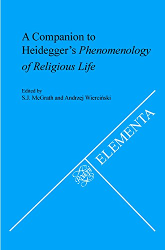 9789042030800: A Companion to Heidegger's Phenomenology of Religious Life. (Elementa)