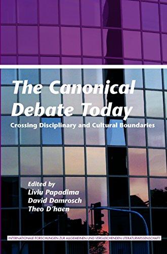 9789042032811: The Canonical Debate Today: Crossing Disciplinary and Cultural Boundaries. (Internationale Forschungen zur Allgemeinen und Vergleichenden Literaturwissenschaft)